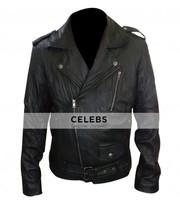 Ryan Gosling MTV Movie Award Black Biker Leather Jacket