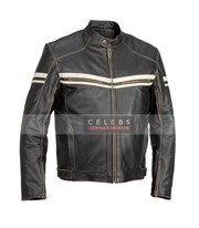 River Road Hoodlum Vintage Leather Jacket For Men