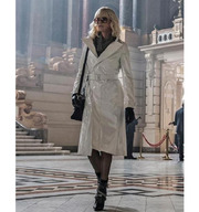 Atomic Blonde Charlize Theron White Coat