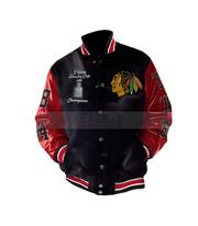 Stanley Champions Blackhawks Chicago Leather Jacket