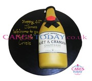 Iced Moet Champagne Cake