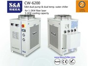 S&A dual temperature and dual control chiller for Rofin co2 slab laser