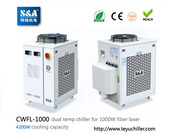 S&A chiller CWFL-1000 for cooling 1000W fiber laser cutting & engravin