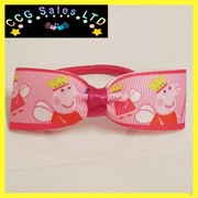 HANDMADE PEPPA PIG HAIRBAND HAIR ACCESSORY