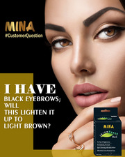 Natural henna dye eyebrows for brow tinting. Pure henna based tint wit