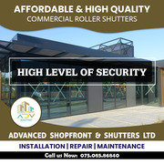 commercial roller shutter in London